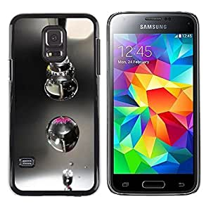 TopCaseStore / la caja del caucho duro de la cubierta de protección de la piel - Design Macro Drop - Samsung Galaxy S5 Mini, SM-G800, NOT S5 REGULAR!
