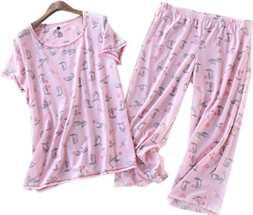 Amoy madrola Women Cotton Sleepwear/Short Sets/Pajamas Set SY215