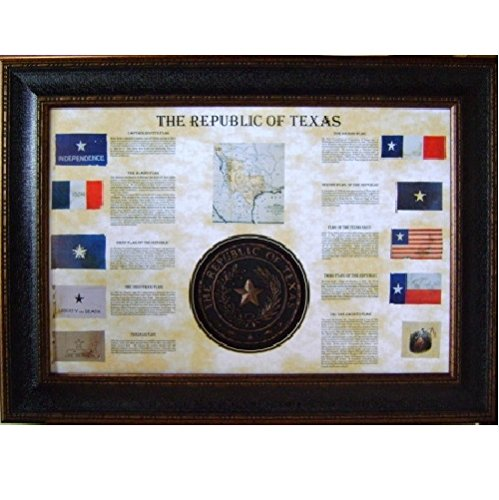 (Flag Collage With Texas Seal Wall Decor Rustic Western Art)