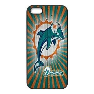 iPhone 5,5S Phone Case Black Miami Dolphins JFL253321