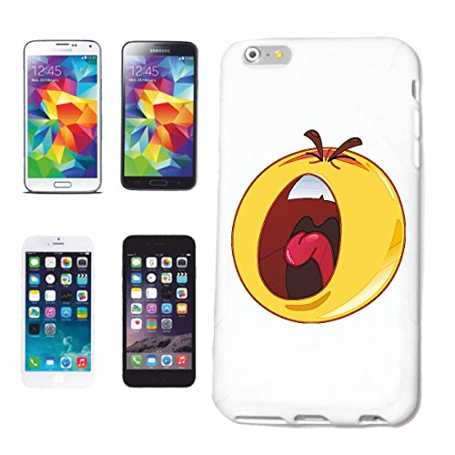 "cas de téléphone Samsung Galaxy S6 edge ""FATIGUÉ bâillements SMILEY ""sourire EMOTICON APP de SMILEYS SMILIES ANDROID IPHONE EMOTICONS IOS"" Hard Case Cover Téléphone Covers Smart Cover pour Samsung Gal"