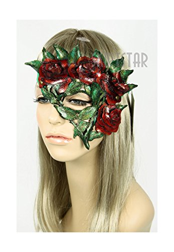 Dryad Costume (Handcrafted Leather Rose Mask (Left Side))