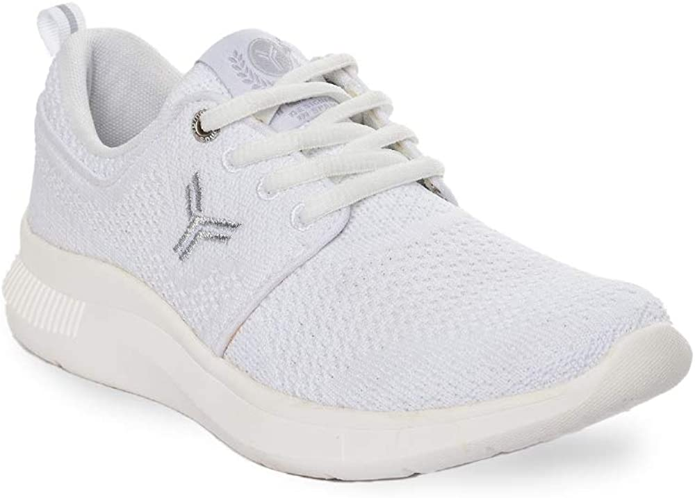 Zapatilla Sneaker Yumas Chicago Lady Blanco Fabricado en Nylon Plantilla Confort Látex para Mujer