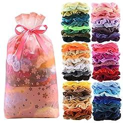 60 Pcs Premium Velvet Hair Scrunchies Ha...