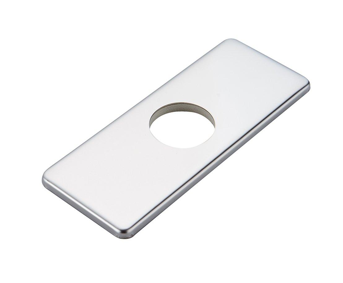 "BWE 6"" Bathroom Vessel Vanity Sink Faucet 4"" Hole Cover Deck Plate Escutcheon Chrome"