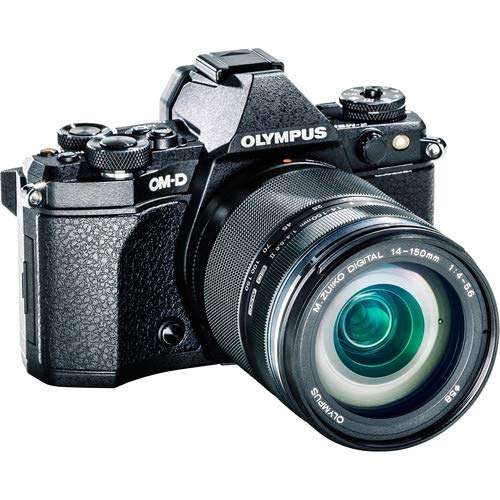 OM-D E-M5 Mark II Mirrorless Micro Four Thirds Digital Camera (Body, Black) + Olympus M.Zuiko ED 14-150mm f/4-5.6 II Lens