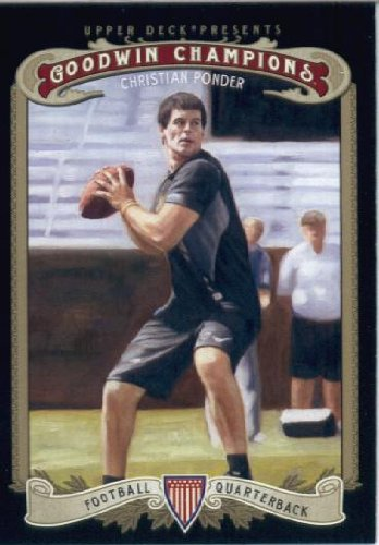 2012 Upper Deck Goodwin Champions Trading Card # 148 Christian Ponder Rookie Card