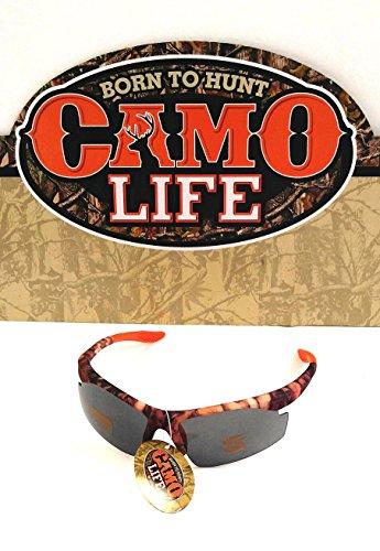 Camo Life Shatterproof Maximum UV Protection Camo and Orange Tips Designed - Uv Maximum Protection