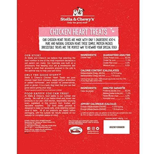 Stella & Chewy's Freeze-Dried Raw Chicken Hearts Dog Treats, 11.5 oz. Bag