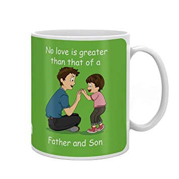 Indigifts Dad Birthday Gifts Father Son Love Quote And Playing Green Coffee Mug