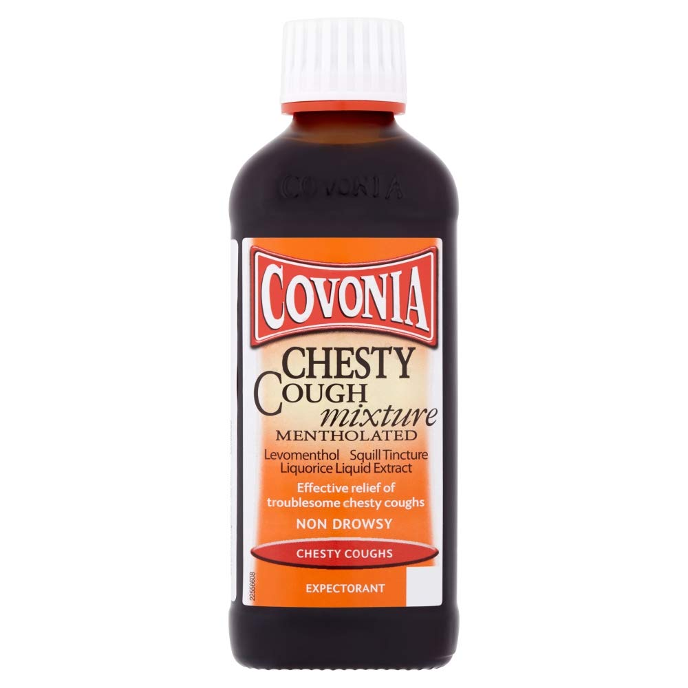 Covonia Chesty Cough Mixture Syrup - Mentholated 150ml
