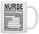 Nurse Gifts Nurse Nutritional Facts Label Nursing Gag Gift Gift Coffee Mug Tea Cup White