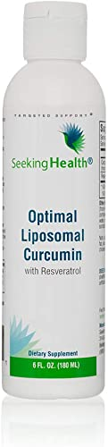 Seeking Health Optimal Liposomal Curcumin Liposomal Tumeric Resveratrol Supplement Non-GMO Allergen-Free