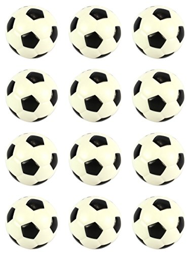 Set of 12 Squeeze Foam 2.5'' Soccer Balls, Perfect for Stress Relieving, Sports Playsets Add On by RI Novelty