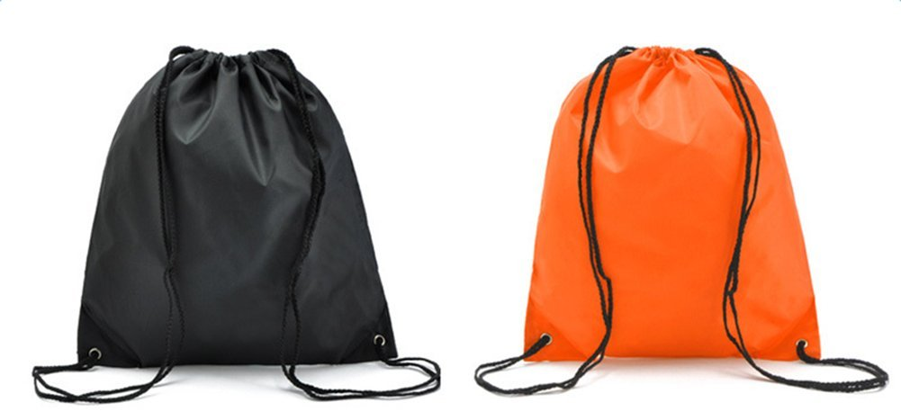 Oyfel Drawstring Backpack Sport Rucksack Foldable Waterproof Tote PE Folding Shoulder Sack Gym Kit School Travel Storage Unisex