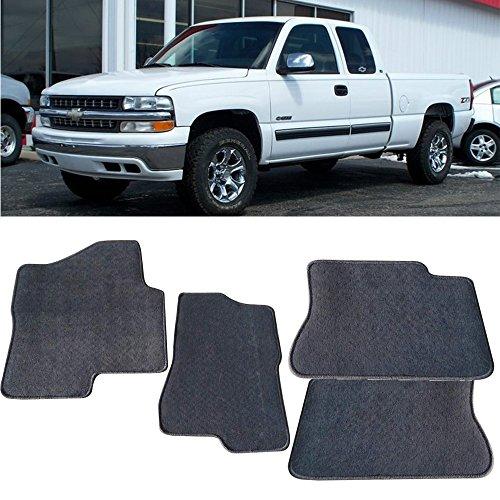 Floor Mat Fits 2000-2006 Chevy Suburban Tahoe &2000-2007 Silverado | Front & Rear Gray 4PC -Nylon Car Floor Carpets Carpet liner by IKON MOTORSPORTS | ?2001 2002 2003 2004 2005 - Chevrolet Tahoe Carpet