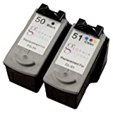 Sophia Global Remanufactured Ink Cartridge Replacement for Canon PG-50 and CL-51 (1 Black and 1 Color), Office Central