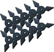 Halloween Ninja Rubber Throwing Star - Sanpo Shuriken - 10pc Set [Sports]