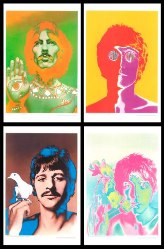 Beatles, Set of Four Digital Poster Reproductions By Richard Avedon