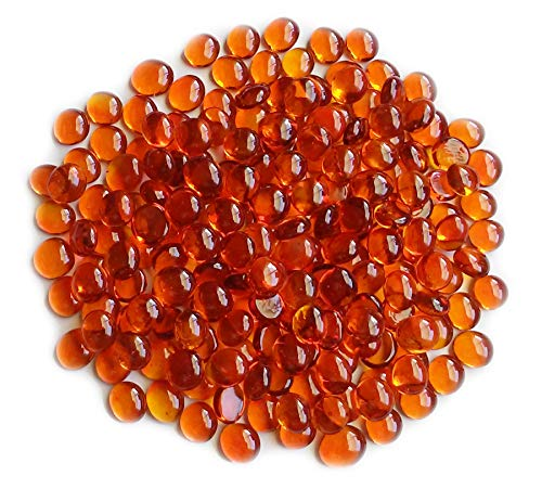 - Creative Stuff Glass - Vase Fillers - Glass Gems (1 LB, Orange Small)