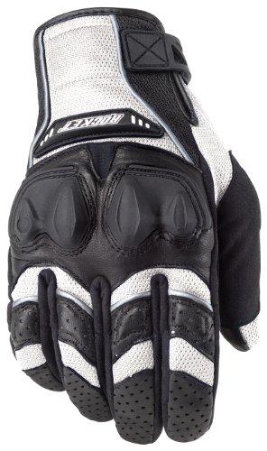 Mesh Black Glove Joe Rocket (Joe Rocket Men's Phoenix 4.0 Motorcycle Riding Gloves (White/Black/White, Large))