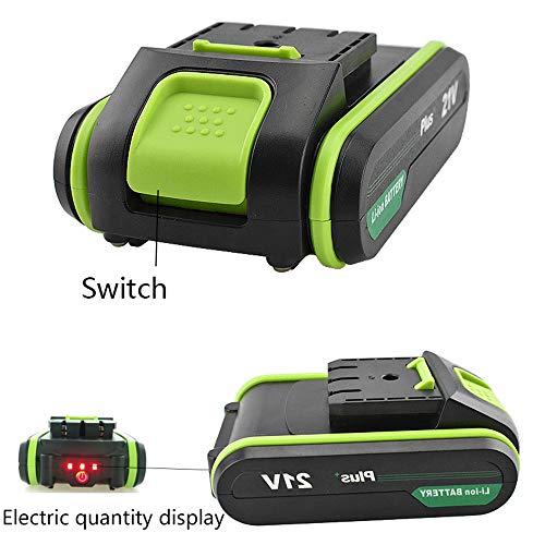 YUWEN 21V Plus Taladro de Mano Baterías Baterías Destornillador ...
