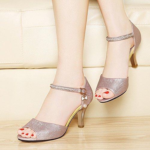Sandals Sandals High Women fish Summer Heels Pink High Mouth Court Shoes Pumps Shoes Girl HUAIHAIZ In Heels The qtSggC
