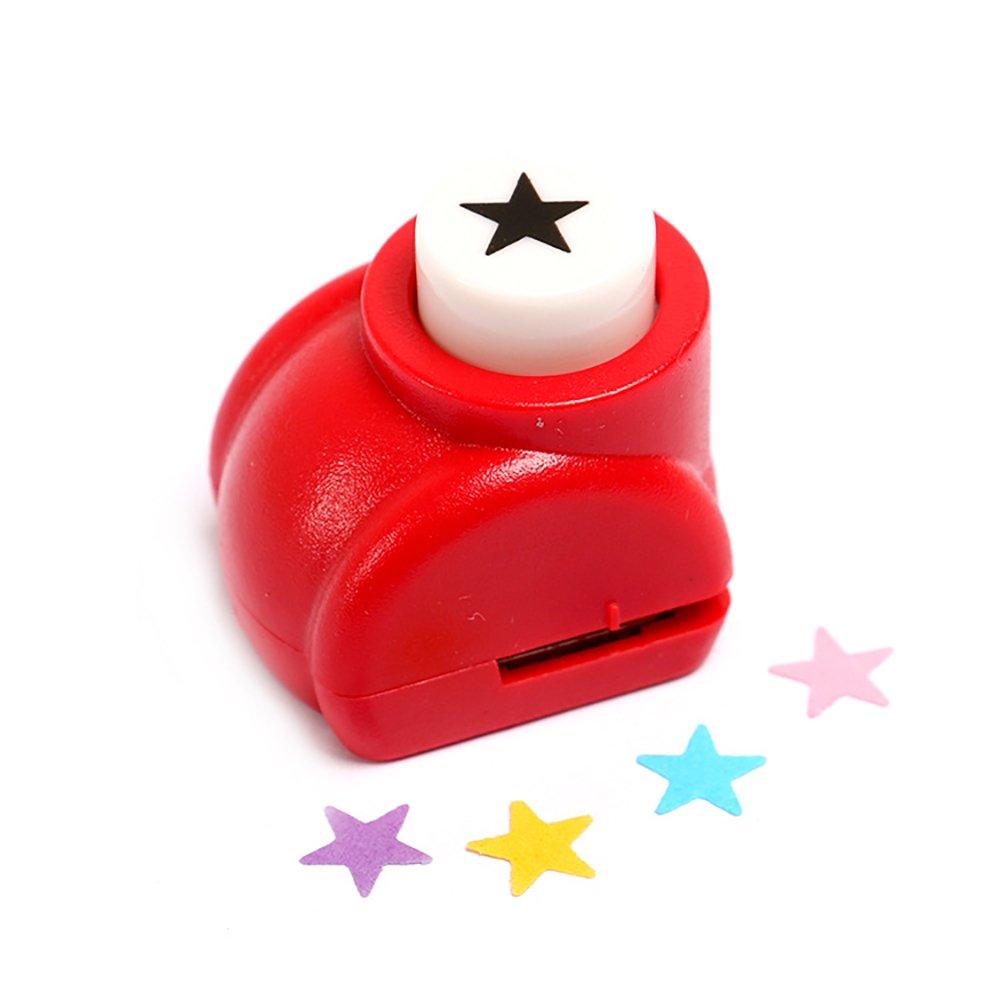 Newin Star - Perforatore Carta, decorative carta di mano, DIY Scrapbooking perforazione per Festival di carta/biglietto di auguri, Stella/Rosso