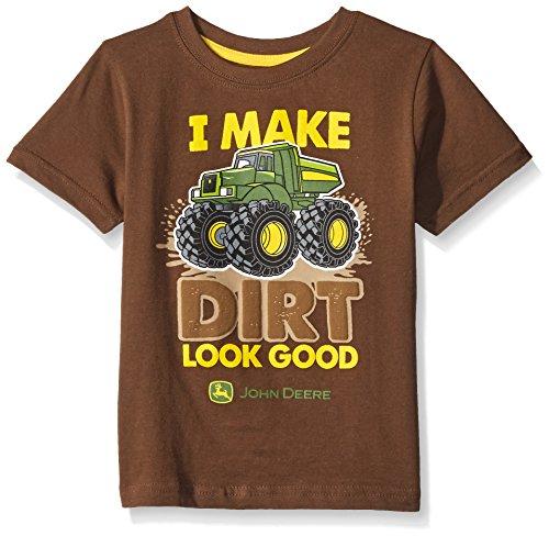 John Deere Little Boys 39 Dirt Look Good T Shirt Brown 2t