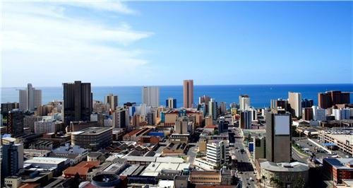 DURBAN SKYLINE GLOSSY POSTER PICTURE PHOTO south africa kwazulu natal - Africa South Pictures