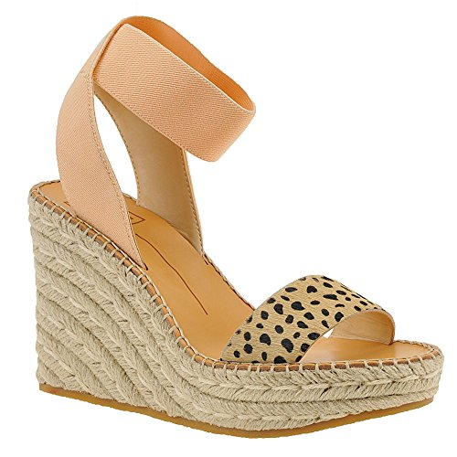 Dolce Vita Women's PAVLIN Wedge Sandal, Leopard Calf Hair, 6 M US