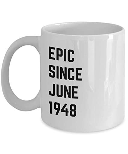 June 70th Birthday Gift Epic Since 1948 Coffee Mug Idea For Men Women Gemini
