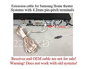 Amazon.com: Speaker extension cable/wire for Samsung Home Theater ...