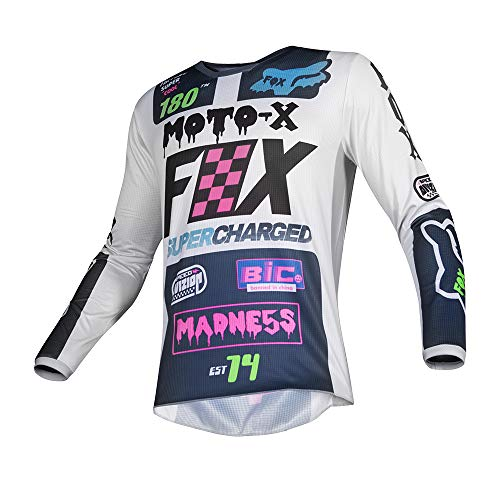 Fox Racing 180 Czar Kids Off-Road Motorcycle Jersey - Light Grey / Small