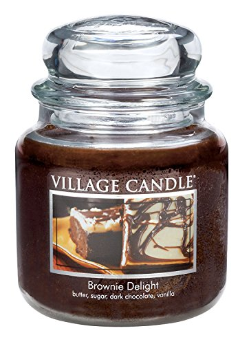 Village Candle Brownie Delight 16 oz Glass Jar Scented Candle, Medium by Village Candle