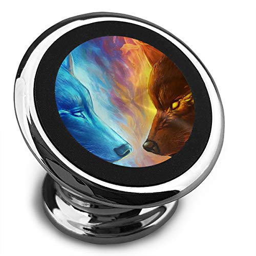 Baerg Universal Magnetic Phone Car Mounts Magnet Holder Ice and Fire Wolves Magnetic Mount for Phone 360° Rotation -
