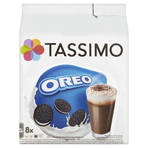 Tassimo - Capsulas de chocolate caliente sabor Oreo - (Caja de 5, Total de 80 recipientes, 40 porciones)