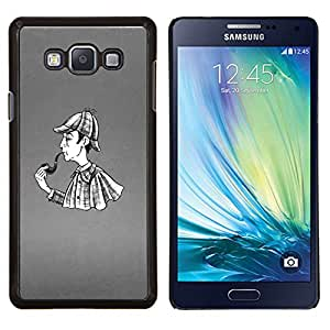 - RAIN COAT PIPE ART DETECTIVE MAN SMOKE - Caja del tel¨¦fono delgado Guardia Armor- For Samsung Galaxy A7 Devil Case