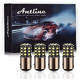 Antline 1157 2057 2357 7528 BAY15D LED Bulbs White, 12-24V Super Bright 1000 Lumens Replacement for Backup Reverse Lights, Tail Brake Lights, Turn Signal Lights (Pack of 4)