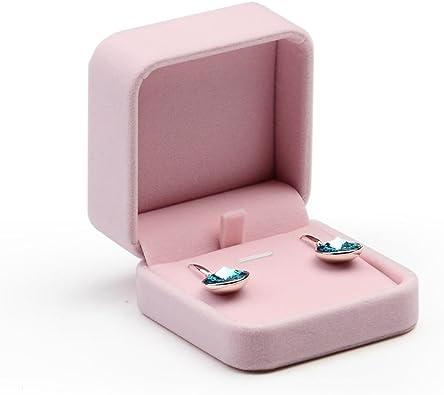 Oirlv Caja de Regalo de joyería de Terciopelo Rosa Anillo de Compromiso de Boda Pendiente Collar Pulsera Colgante Estuche de Almacenamiento (Caja de Pendientes): Amazon.es: Hogar