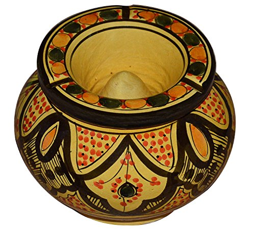 Cheap  Ceramic Ashtrays Moroccan Handmade Smokeless Cigar Exquisite Design with Vivid Colors X-Large
