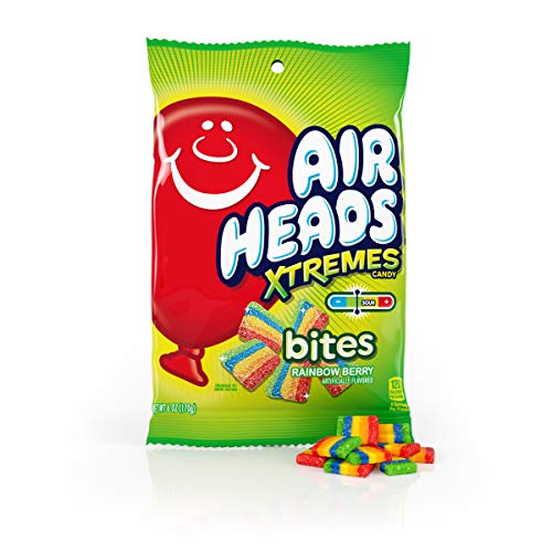 Airheads Xtremes Bites Rainbow Berry Peg Bag, Valentines Day Gifts, Bulk, 6 Ounce (Pack of 12)