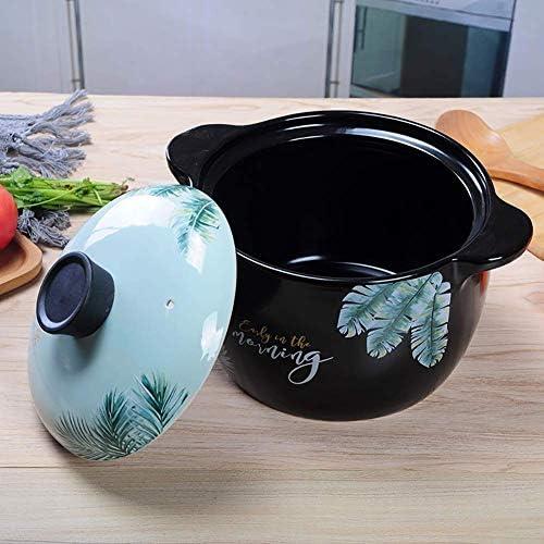AGGF Cocotte non adhésive pour 2-3 personnes, argile céramique, faïence naturelle en terre cuite 3 l