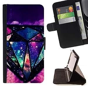 For Sony Xperia Z3 D6603 Case , Bling Universo misterioso- la tarjeta de Crédito Slots PU Funda de cuero Monedero caso cubierta de piel