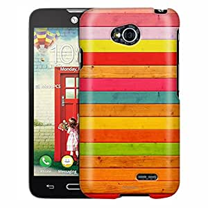LG Optimus Exceed 2 Case, Slim Fit Snap On Cover by Trek Dyed Wood Neon Case