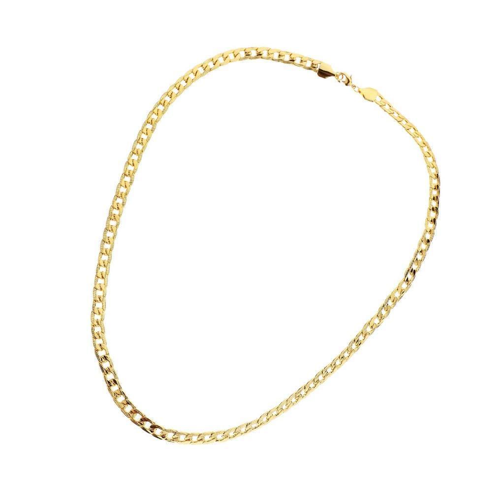 Saisonale Deko IMHERE W U Männer Frauen Gold-Kandare-Verbindungs-Ketten Hip Hop Halsketten-Kostüm Schmucksachen des Edelstahl plattiert Zubehör