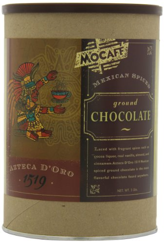 MOCAFE Azteca D'Oro 1519 Mexican Spiced Ground Chocolate, 3-Pound Tins (Pack of 2)