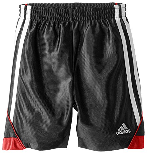 Adidas Little Boys' Speed Short, Black/Red, 4 by adidas (Image #1)