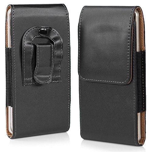 HSRpro Gürtel Tasche für Samsung Galaxy S6 in Schwarz - Hülle mit Gürtel Schlauch Gürteltasche - Sehr praktische Schutzhülle und hochwertig