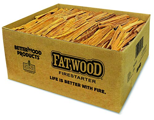 9951 Charcoal - Better Wood Products Fatwood Firestarter Box, 50-Pounds